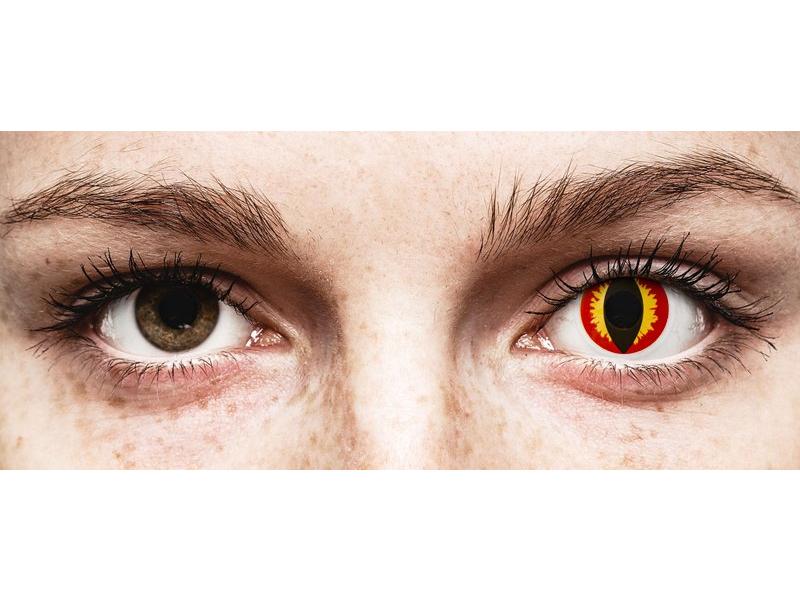 Red and Yellow Dragon Eyes контактные линзы - ColourVue Crazy (2 однодневные цветные линзы)