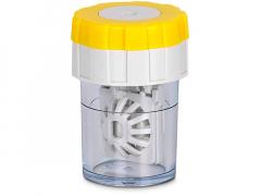 Вертикальный контейнер с вращающейся укладкой для линз - желтый