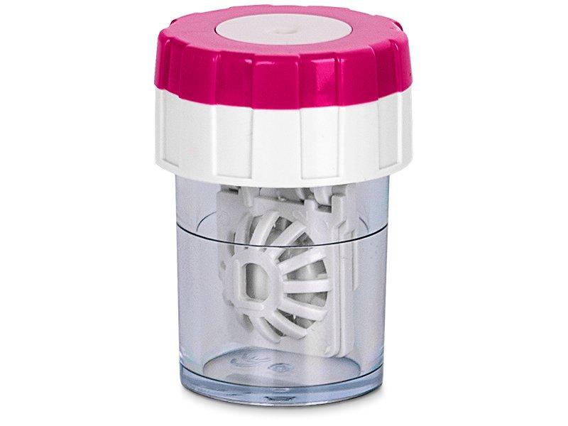 Вертикальный контейнер с вращающейся укладкой для линз - розовый