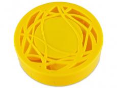 Футляр для линз с зеркалом - желтый орнамент
