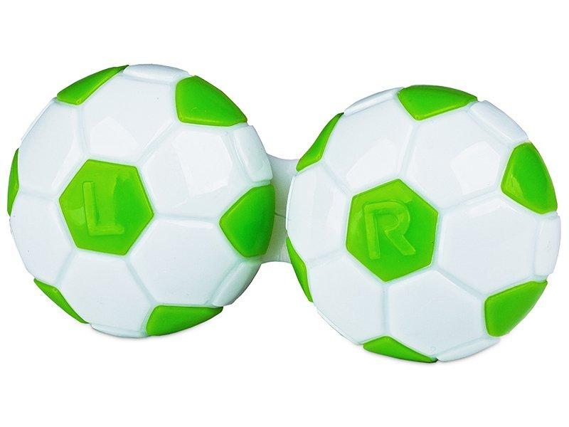 Кейс для линз футбольный - зеленый
