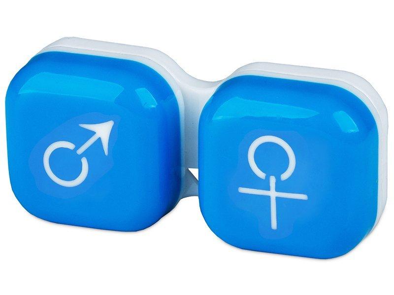 Кейс для линз мужчина & женщина - синий