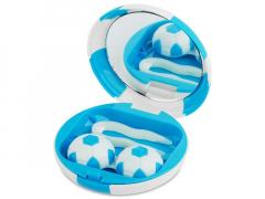 Футляр для линз с зеркалом Футбол - синий