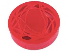Футляр для линз с зеркалом - красный орнамент