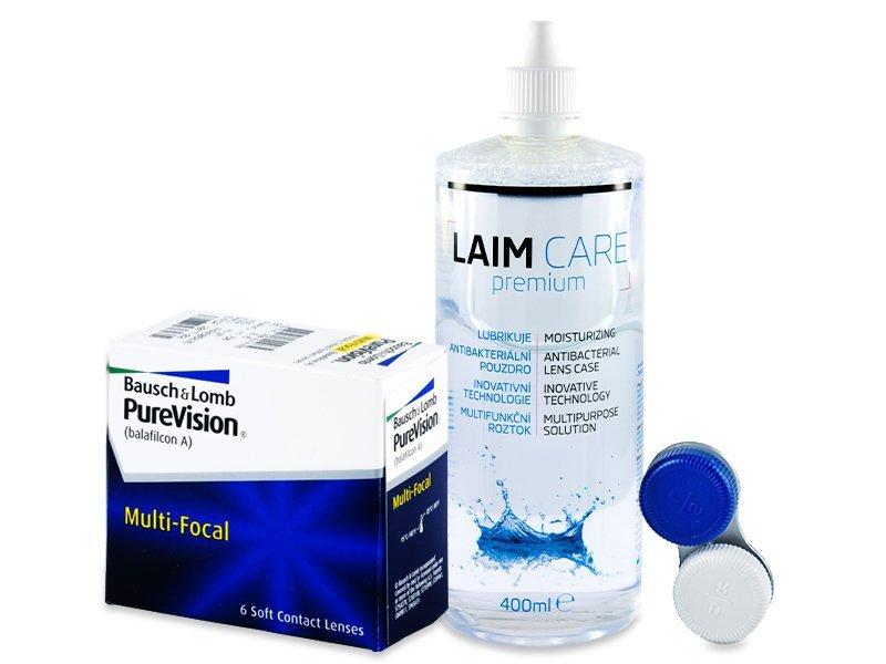 PureVision Multi-Focal (6 линз) + Раствор Laim-Care 400 мл