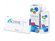 Acuvue 2 (6 линз) + Раствор Gelone 360 ml