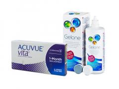 Acuvue Vita (6 линз) + Раствор Gelone 360 ml