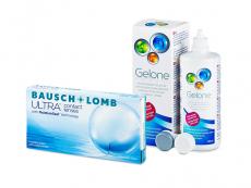 Bausch + Lomb ULTRA (6 линз) + Раствор Gelone 360 ml
