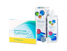 PureVision 2 for Presbyopia (3 линзы) + Раствор Gelone 360 ml