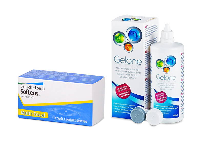 SofLens Multi-Focal (3 линзы) + Раствор Gelone 360 ml