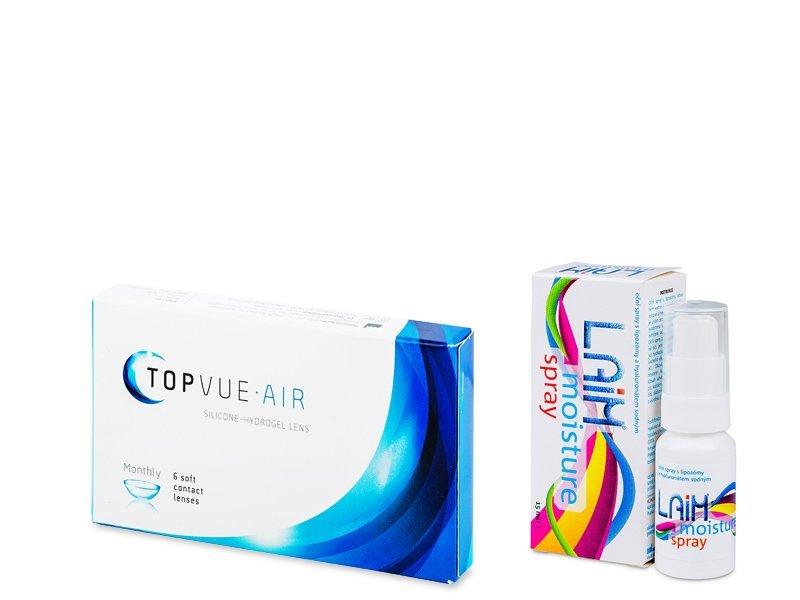 TopVue Air (6 линз) + спрей Laim Moisture