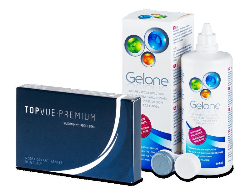 TopVue Premium (6 линз) +Раствор Gelone360мл