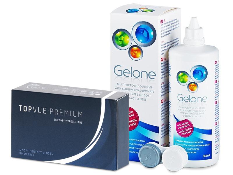 TopVue Premium (12 линз) + Раствор Gelone 360 ml