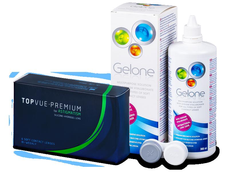 TopVue Premium for Astigmatism (6линз) +Раствор Gelone360мл
