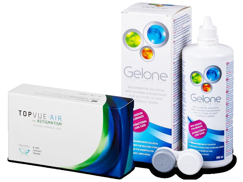 TopVue Air for Astigmatism (6линз) + Раствор Gelone 360 ml