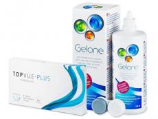 TopVue Monthly Plus (6 линз) +Раствор Gelone360мл
