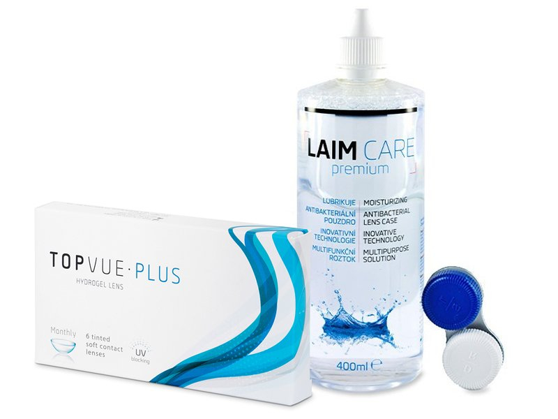 TopVue Monthly Plus (6 линз) + Раствор Laim-Care 400 мл