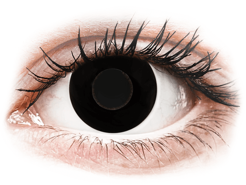 CRAZY LENS - Black Out - с диоптриями (2 однодневных цветных линз)
