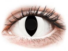 CRAZY LENS - Cat Eye White - без диоптрий (2 однодневных цветных линз)