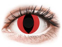 CRAZY LENS - Cat Eye Red - без диоптрий (2 однодневных цветных линз)