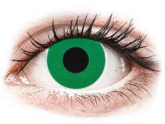 CRAZY LENS - Emerald Green - с диоптриями (2 однодневных цветных линз)