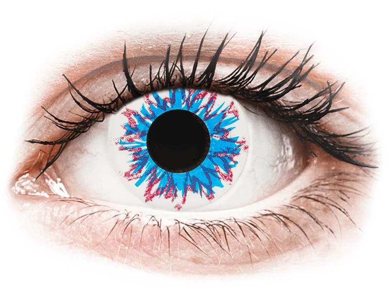 CRAZY LENS - Harlequin - с диоптриями (2 однодневных цветных линз)