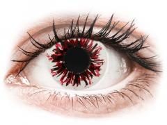 CRAZY LENS - Harlequin Black - с диоптриями (2 однодневных цветных линз)