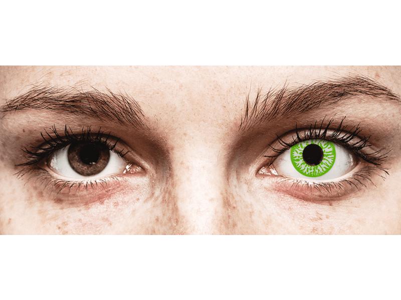 CRAZY LENS - Joker - с диоптриями (2 однодневных цветных линз)