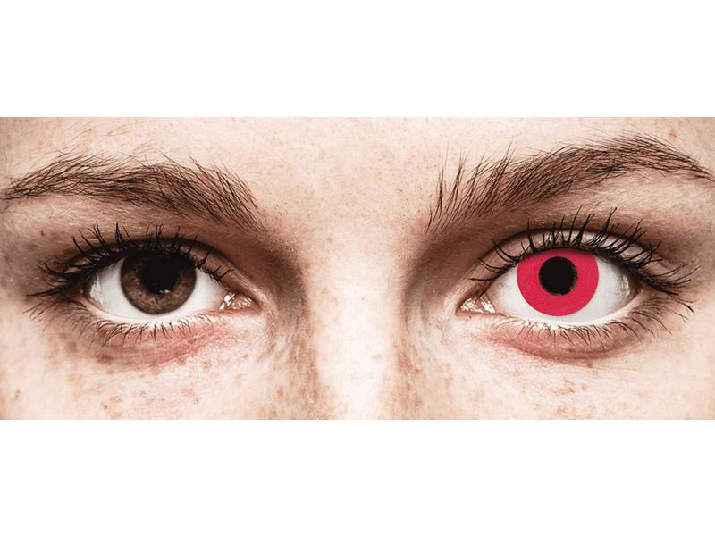 CRAZY LENS - Solid Red - с диоптриями (2 однодневных цветных линз)