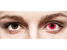 CRAZY LENS - Solid Red - без диоптрий (2 однодневных цветных линз)