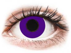 CRAZY LENS - Solid Violet - с диоптриями (2 однодневных цветных линз)