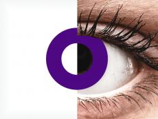 CRAZY LENS - Solid Violet - без диоптрий (2 однодневных цветных линз)