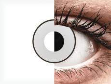 CRAZY LENS - White Black - без диоптрий (2 однодневных цветных линз)