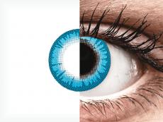 CRAZY LENS - White Walker - с диоптриями (2 однодневных цветных линз)
