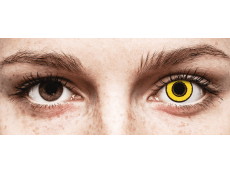 CRAZY LENS - Yellow Twilight - с диоптриями (2 однодневных цветных линз)