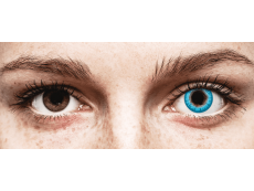 CRAZY LENS - White Walker - без диоптрий (2 однодневных цветных линз)