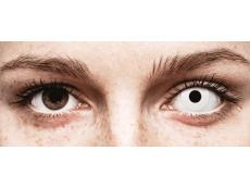 CRAZY LENS - WhiteOut - с диоптриями (2 однодневных цветных линз)