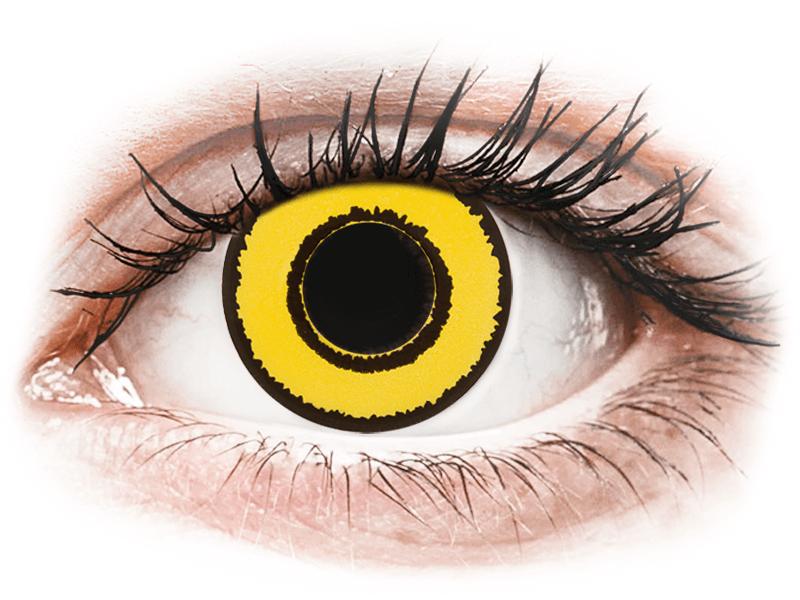 CRAZY LENS - Yellow Twilight - без диоптрий (2 однодневных цветных линз)