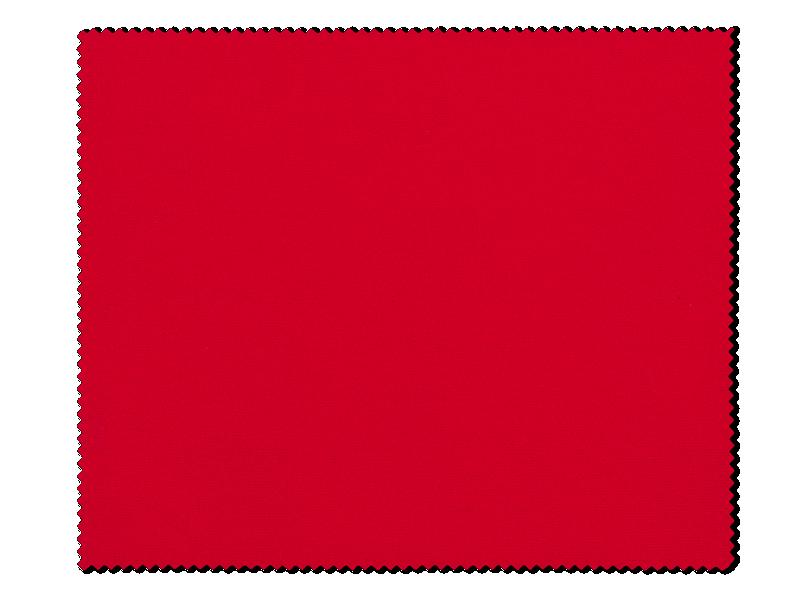 Очищающая салфетка для очков - красная
