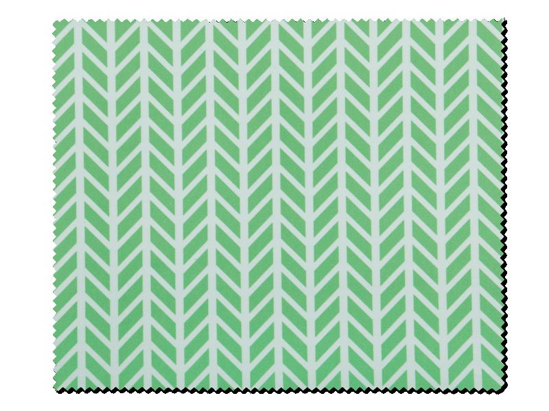 Очищающая салфетка для очков - зелёная с белым