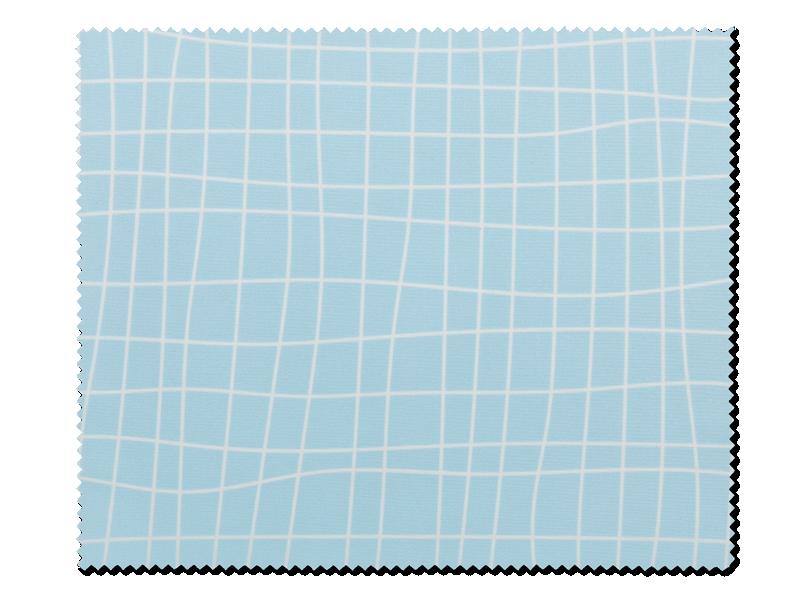 Очищающая салфетка для очков - голубая в белую клетку