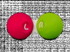 Розово-зеленый контейнер для контактных линз