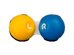Желто-синий футляр для контактных линз