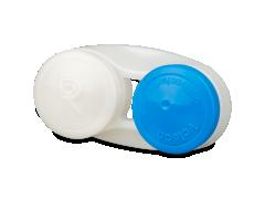 Антибактериальный футляр для линз - синий