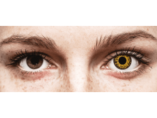 CRAZY LENS - Cheetah - без диоптрий (2 однодневных цветных линз)