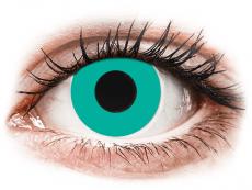CRAZY LENS - Solid Turquoise - без диоптрий (2 однодневных цветных линз)