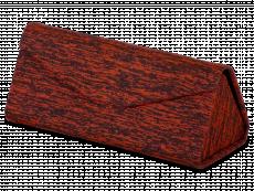 Футляр для очков с красными вставками - Бриндл
