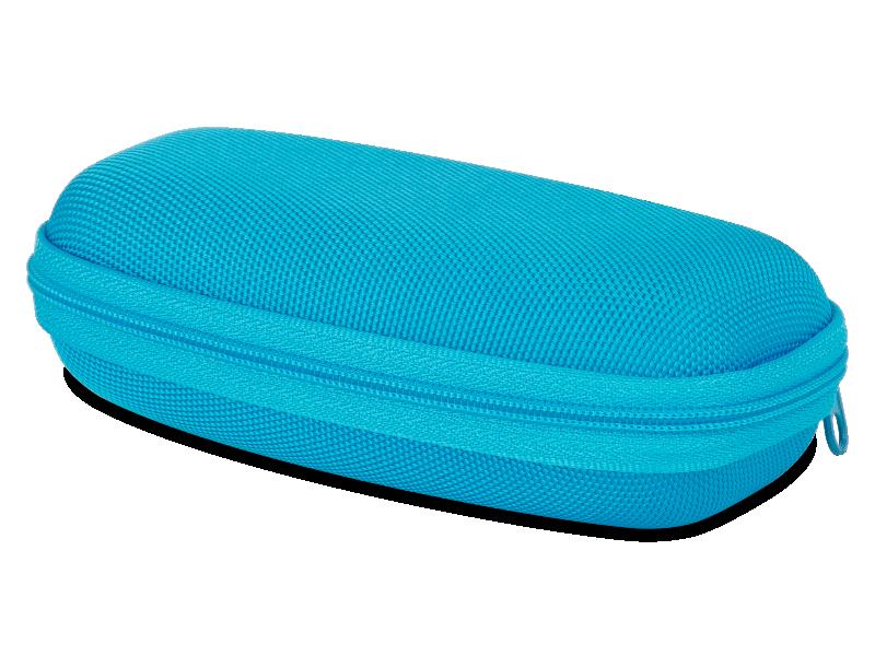 Детский чехол для очков на молнии - синий