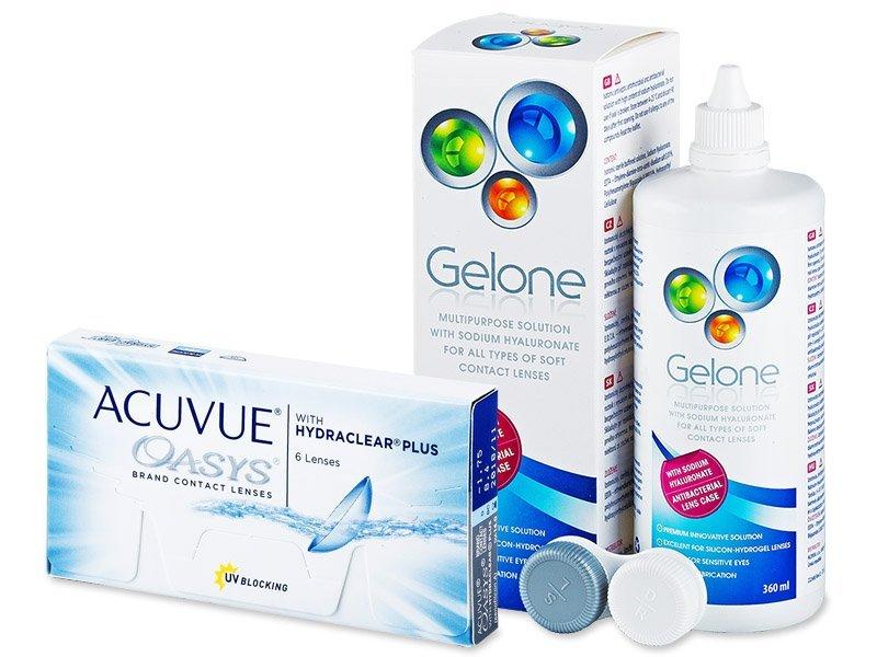 Acuvue Oasys (6линз) +Раствор Gelone360мл