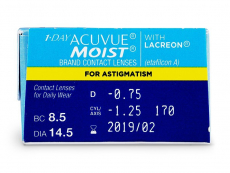1 Day Acuvue Moist for Astigmatism (30линз)